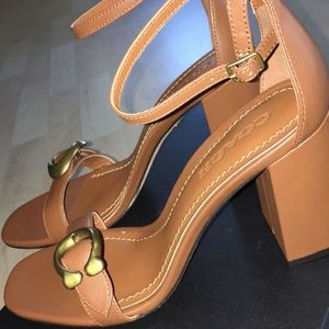 Shoes - Coach Leather Heels